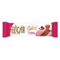 Milk chocolate FELICITA GELATO Tramonto al Lampone c stuffing with taste of raspberry ice cream in bulk