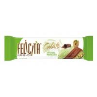 Milk chocolate FELICIT GELATO Citt del Pistacchio stuffed with pistachio flavored ice cream in bulk