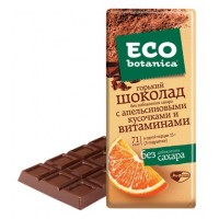 Bitter chocolate Eco-botanica with orange slices and vitamins wholesale