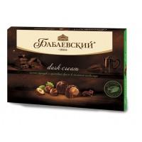 "Sweets ""Babaev» Dark cream with whole hazelnuts and hazelnut cream in dark chocolate in bulk"