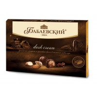 "Sweets ""Babaev» Dark cream with crushed almonds and hazelnut cream in dark chocolate in bulk"
