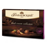 """Sweets """"Babaev» Dark cream collection With whole hazelnuts and almonds in dark chocolate in bulk"""
