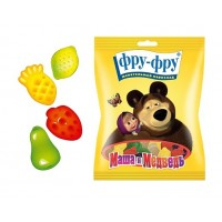 Chewing marmalade FRU-FRU Masha and the Bear fruit plate wholesale