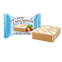 "Wafer cake ""Boyarushka"" classic in  white glaze wholesale"