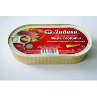 052 Fillet of Atlantic sardines with vegetables in t / a 180gr. wholesale