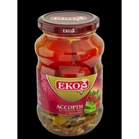 Assorted EKO of gherkin and cherry tomatoes, 720 gr. wholesale
