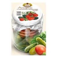 """Assorted gherkins and cherry tomatoes """"Extra"""" at home recipe 720ml. wholesale"""