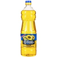 "Sunflower unrefined oil, ""Kuban"" 1l. wholesale"
