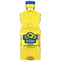 "Refined sunflower oil, ""Kuban"" 0,35l. wholesale"
