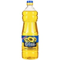 "Refined sunflower oil, ""Kuban"" 1l. wholesale"