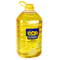 "Refined sunflower oil, ""Kuban"" 5l. wholesale"
