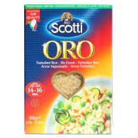 Rice Riso Scotti Oro polished long grain parboiled 500g wholesale